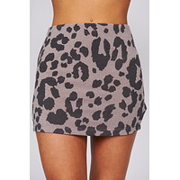 So Iconic Leopard Print Mini Skirt (Brown/Black)