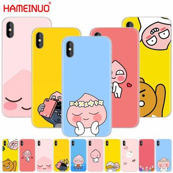 HAMEINUO Korean cartoon funny cocoa friend cell phone Cover case for iphone X 8 7 6 4 4s 5 5s SE 5c 6s plus