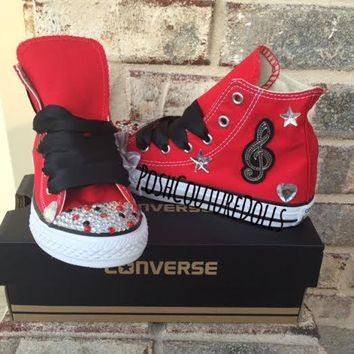 Party Like a Rocstar Birthday Custom Bling Converse