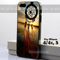 Dream Catcher on Sunset - Hard Cover - For iPhone 4 / 4S , iPhone 5 - Black / White Case