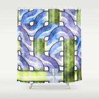 Pipelines watercolor Shower Curtain by LoRo  Art & Pictures