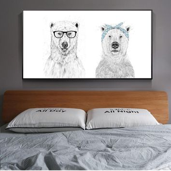 Nordic Simple Animal Painting On The Wall Lion Posters And Prints Black And White Sketch Wall Art Canvas Picture For Living Room