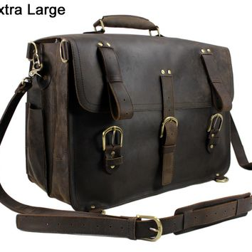 vintage Crazy Horse leather men travel bag luggage bag big genuine leather travel backpack Large Men duffle bag weekend