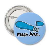 flash me flash drive design pin from Zazzle.com