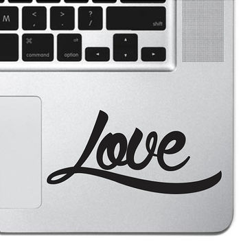 "Love Vinyl Decal Sticker Heart Skin MacBook Pro Air 13"" 15"" 17"" Keyboard Keypad Mousepad Trackpad Laptop Retro Vintage"