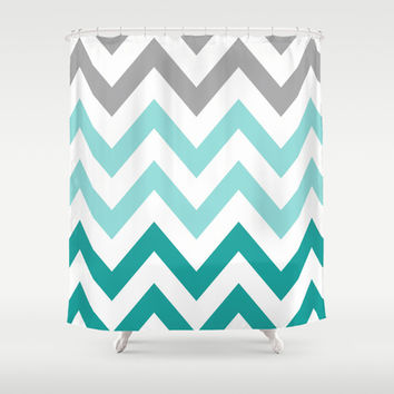 Best Teal Chevron Shower Curtain Products on Wanelo