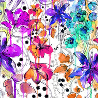 Lost in Botanica Stretched Canvas by Holly Sharpe