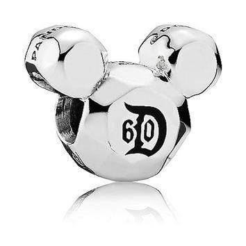 Disney Mickey Mouse Disneyland 60th Anniversary Charm by Pandora New