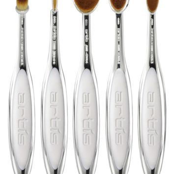 Elite, Mirror, White Velvet Edition, 5 Brush Set