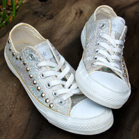 Glitter Studded Converse - One of a Kind