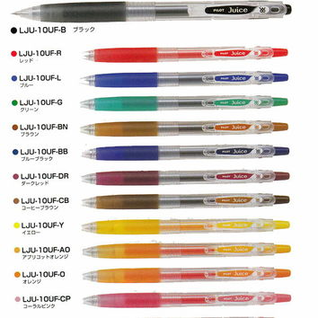 038 (super extra-fine) gel ink ball-point pen juice 0.38mm knock-type 110P30Nov13