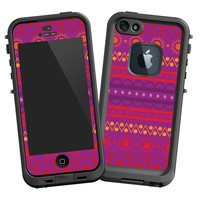 """Purple Tribal """"Protective Decal Skin"""" for LifeProof fre iPhone 5/5s Case"""