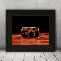 Camera Print, Vintage Camera,  Argus Camera, Antique Wall Art, Fine Art Print, Room Artwork, Home Decor, Office Decor, Living Room Art