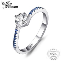 Sterling Silver Sapphire Anniversary Promise Ring