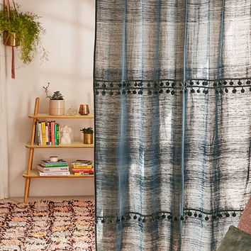 Averi Pompom Gauze Window Curtain | Urban Outfitters