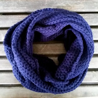 Knitted Scarf,Unisex, Scarf,Neck Warmer,Navy Blue Color,Long Scarf,Men Scarf,Women Scarf Knitting Scarf Loop Scarf Infinity Scarf,Gift Ideas