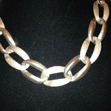 Vintage Napier Silver Chain Choker Necklace Signed