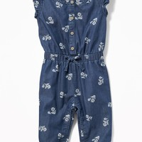 Floral Chambray Jumpsuit for Baby|old-navy