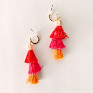 Skye Tiered Tassel Earrings