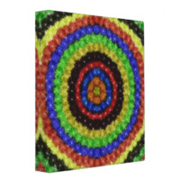 Colorful circle pattern 3 ring binders