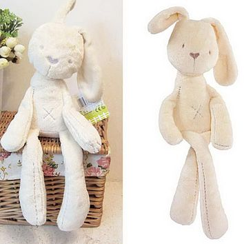 New Fashion Soft Stuffed Animals Kids Animal Rabbit Sleeping Cute Cartoon Plush Toy Stuffed Animal Dolls Children Birthday Gift