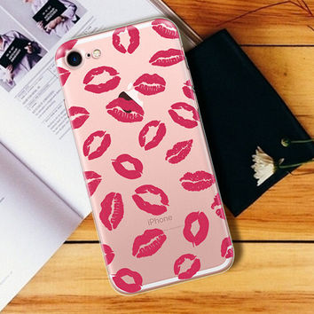 Lip Print Case Cover for iPhone 7 7 Plus & iPhone se 5s 6 6s Plus +Gift Box