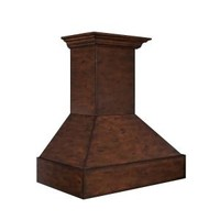 ZLINE 36 in. 1200 CFM Wooden Wall Mount Range Hood in Walnut and Hamilton 355WH-36 at The Home Depot - Mobile