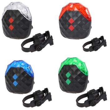 5LED 2 Laser Bike Light 7 Flash Mode Safety Cycling Rear Lamp Waterproof Laser Tail Warning Lamp Flashing Bicycle Lights