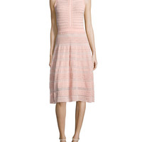 M Missoni Sleeveless Rivet-Stitch A-Line Dress