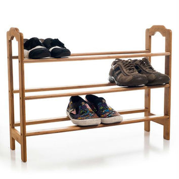 Bamboo 3 Tier Shoe Rack - Environmentally Friendly