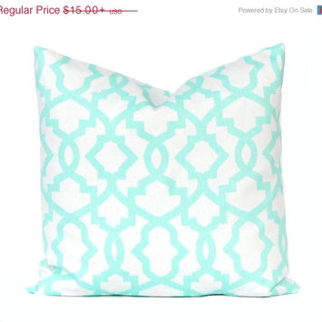SALE Mint Green Pillow Cover Decorative Pillow Throw Mint Pillow Trellis Cushion Cover Pillow Home Decor One All Sizes Mint Green Pillow Wed