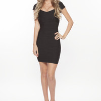 'Emily' Black Bandage Dress