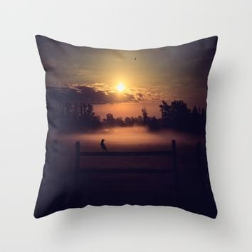 The Beginning Of The End  Throw Pillow by Faded  Photos