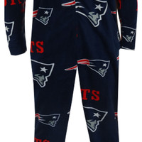 New England Patriots Guys Navy Blue Onesuit Footie Pajama
