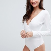 ASOS Body With Deep Wrap Front And Back at asos.com