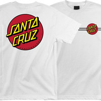 Santa Cruz Classic Dot Tee Medium White
