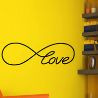 Vinyl Wall Decals Love Infinity Symbol Bedroom Decal Infinity Loop Wall Quote Vinyl Lettering Decal Sticker Home Decor Art Mural Z647