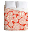 Heather Dutton Delightful Doilies Saffron Duvet Cover