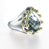 Garland Ring by Ellen Himic (Silver & Stone Ring) | Artful Home