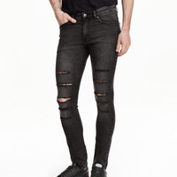 H&M Super Skinny Low Ripped Jeans $34.99