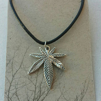Marijuana Charm Necklace