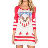 Spell & The Gypsy Collective Captain Amerique Raglan Dress in Off White