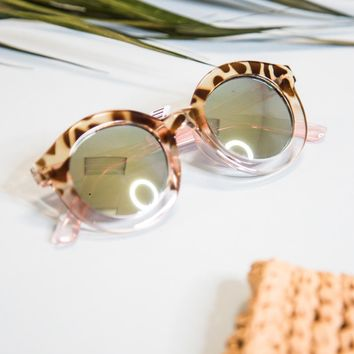 Dingdong Mirrored Sunnies, Tortoise/Pink