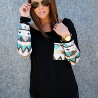 Sequin Glam Tunic {Black}