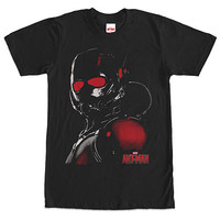 Ant-Man Red Eyes Black T-Shirt