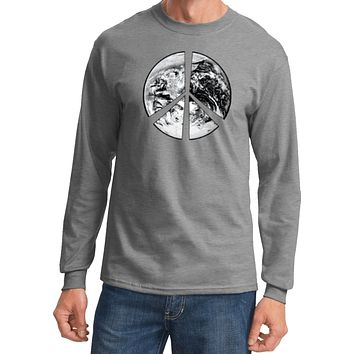 Buy Cool Shirts Peace T-shirt Earth Satellite Symbol Long Sleeve