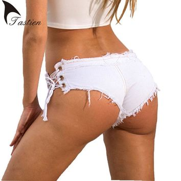 5Colors Women Sexy Jeans Denim Shorts 2018 Summer Fashion Cotton Lace-up Sexy Super Shorts Ladies Skinny Super Short Jeans Girls