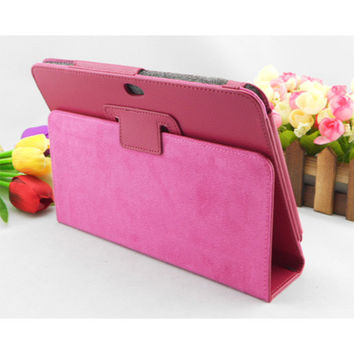 For Samsung Galaxy Tab P7300 GT-P7310 P7320 P739 I957 8.9 inch Tablet PC Stand Leather Case Cover Folio Folding