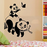Panda Bear Wall Decals Animals Vinyl Sticker Living Room Decor Baby Kids Wall Decor Home Decor Vinyl Nursery Bedroom Decor C547