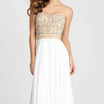 Strapless Chiffon Gown by Madison James Special Occasion